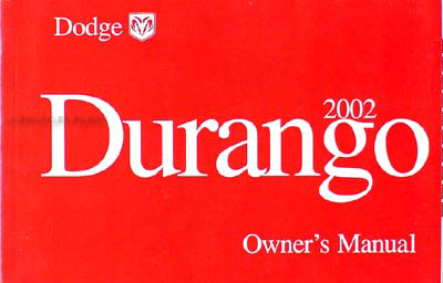 2002 dodge durango original owner s manual rh faxonautoliterature com 2002 dodge durango manual online 2002 dodge durango service manual pdf
