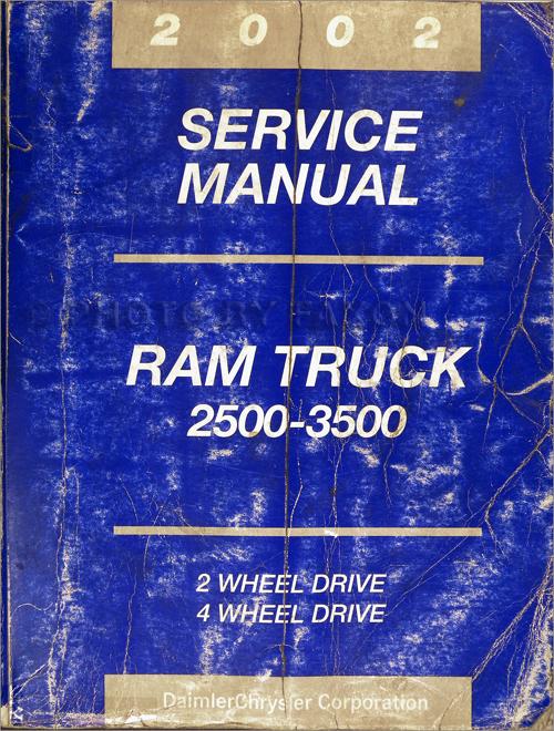 2002 dodge ram 2500 3500 truck repair shop manual original. Black Bedroom Furniture Sets. Home Design Ideas
