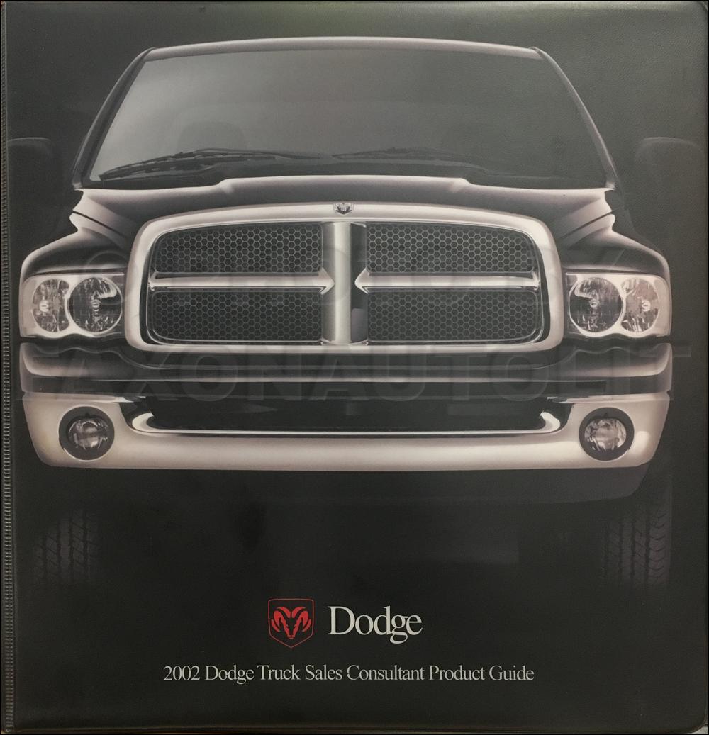 2002 Dodge Truck Dealer Album Data Book Ram 1500 2500 3500