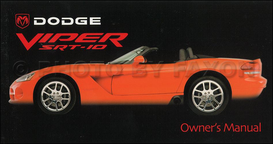 2003 dodge viper srt 10 owner s manual original rh faxonautoliterature com dodge viper service manual download dodge viper service manual download