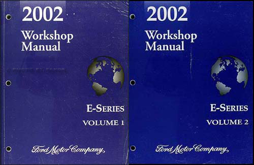 2002 Ford Econoline Shop Manual Set Van E150 E250 E350 E450 E550 Club Wagon