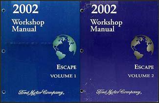 2002 ford escape repair shop manual original 2 volume set rh faxonautoliterature com 2002 ford escape service manual 2002 ford escape service manual free
