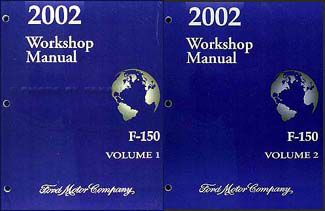 2002 Ford F-150 Repair Manual 2 Volume Set Original