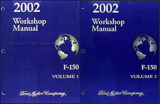 2002 Ford F-150 Repair Manual 2 Volume Set Original