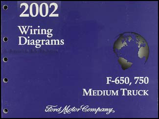 2002 ford f650 f750 medium truck wiring diagram manual original rh faxonautoliterature com  2002 ford f650 wiring schematic