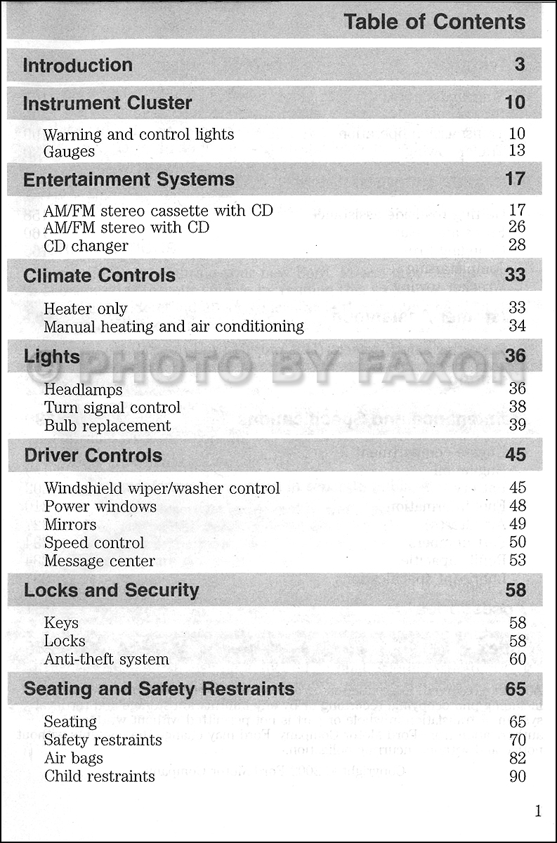 2002 Infiniti I35 Fuse Box Diagram 34 Wiring Images 03 F 350 Super Duty Owners Manual Original F250 F350 F450 F550 Table Of Contents Page 1