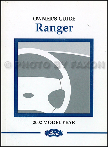 ford ranger owners manual original