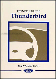 ford thunderbird wiring diagram manual original 2002 ford thunderbird owner s manual original
