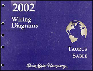 2002 Ford Taurus & Mercury Sable Wiring Diagram Manual Original