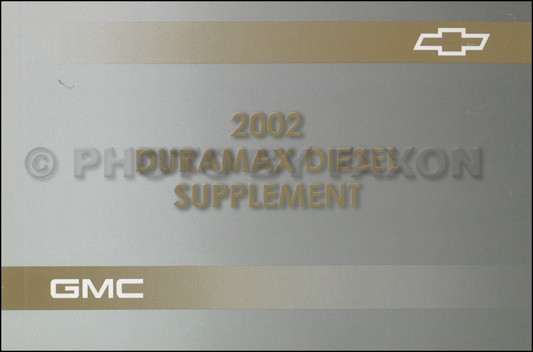 2002 chevy and gmc 6 6l duramax diesel owners manual supplement rh faxonautoliterature com owners manual 2002 gmc envoy owners manual 2004 gmc hd with duramax