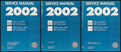 2002 ck 3500 hd chassis cab repair shop manual original 3 volume set rh faxonautoliterature com Chevy 3500HD MPG Chevy 3500HD MPG