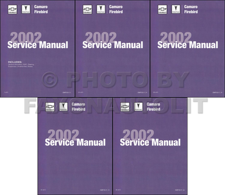 2001 Camaro, Firebird, & Trans Am Repair Manual Original 3 Volume Set