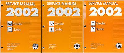 2002 cavalier and sunfire repair shop manual original 3 volume set rh faxonautoliterature com 2002 cavalier repair manual pdf 2002 chevy cavalier repair manual free download