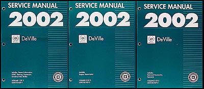 2002 cadillac deville repair shop manual original 3 volume set rh faxonautoliterature com repair manual for 2000 cadillac deville 2005 Cadillac DeVille