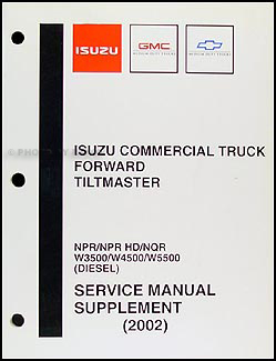 gmc w4500 forward service manuals shop owner maintenance and 2002 npr nqr w3500 w4500 w5500 diesel repair shop manual original supp