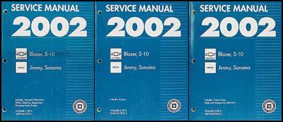 2002 s 10 sonoma jimmy blazer repair shop manual original 3 rh faxonautoliterature com 2002 GMC Sonoma ZR2 94 GMC Sonoma 4WD Diagram