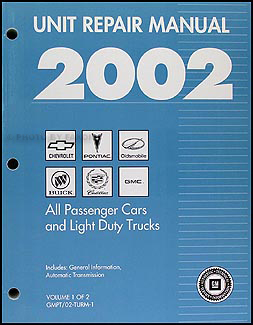 2002 GM Automatic Transmission Overhaul Manual Original