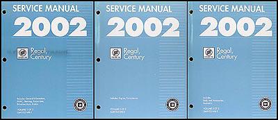 2002 buick regal century repair shop manual original 3 volume set rh faxonautoliterature com 1995 Buick Regal 2002 Buick LeSabre