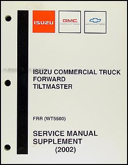2002 FRR & WT5500 Repair Manual Supplement