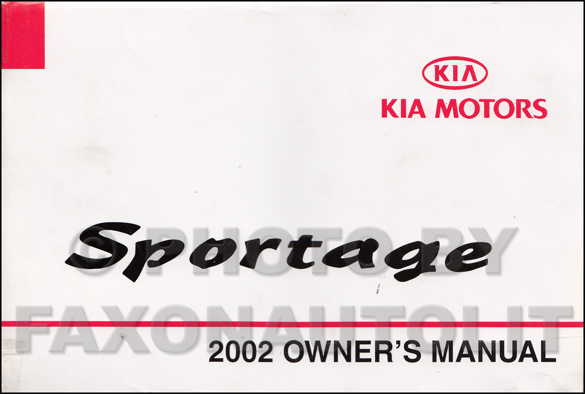 2002 kia sportage owners manual original rh faxonautoliterature com 2011 kia sportage owners manual guide kia sportage 2011 oem service repair manual download