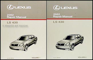 2002 lexus ls 430 repair shop manual original 2 volume set. Black Bedroom Furniture Sets. Home Design Ideas