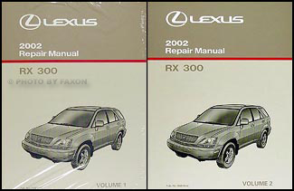 2002 lexus rx 300 repair shop manual 2 volume set original rx300 rh faxonautoliterature com 2002 lexus rx300 repair manual pdf 2002 lexus rx300 repair manual