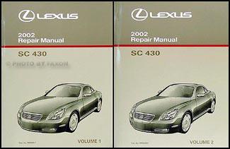 2002 lexus sc 430 repair shop manual original 2 volume set rh faxonautoliterature com