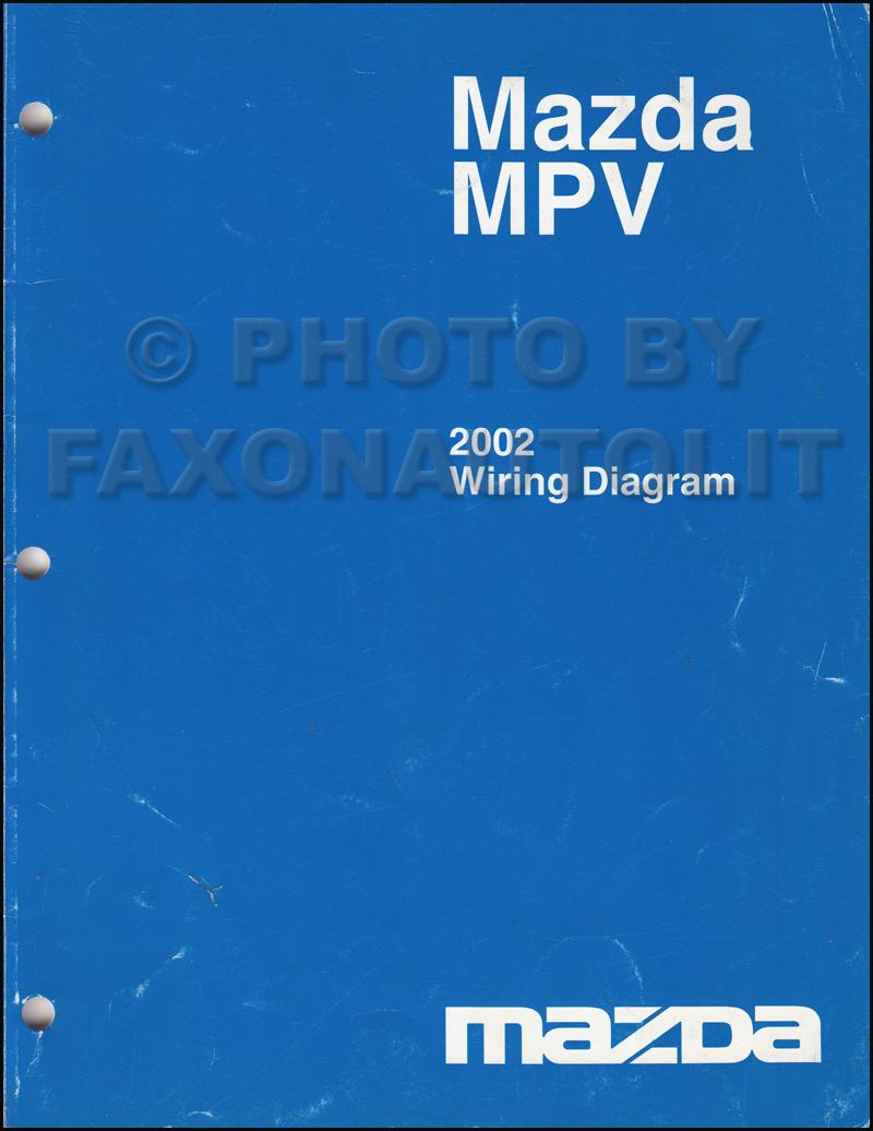 2002 mazda mpv repair shop manual original