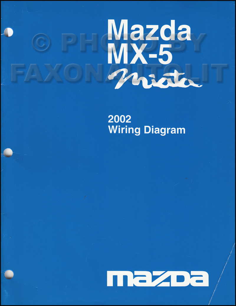 2002 mazda mx 5 miata wiring diagram manual original. Black Bedroom Furniture Sets. Home Design Ideas