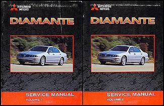 2002 mitsubishi diamante original repair shop manual 2 vol set rh faxonautoliterature com 1999 Mitsubishi Diamante 2001 mitsubishi diamante owners manual pdf