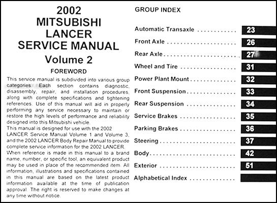 2002 mitsubishi lancer repair shop manual original 3 vol set rh faxonautoliterature com 2001 mitsubishi lancer ce owner's manual mitsubishi lancer cedia 2001 owners manual