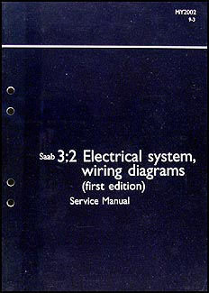2002 Saab 9-3 Electrical system wiring diagrams Service Manual Vol 3:2