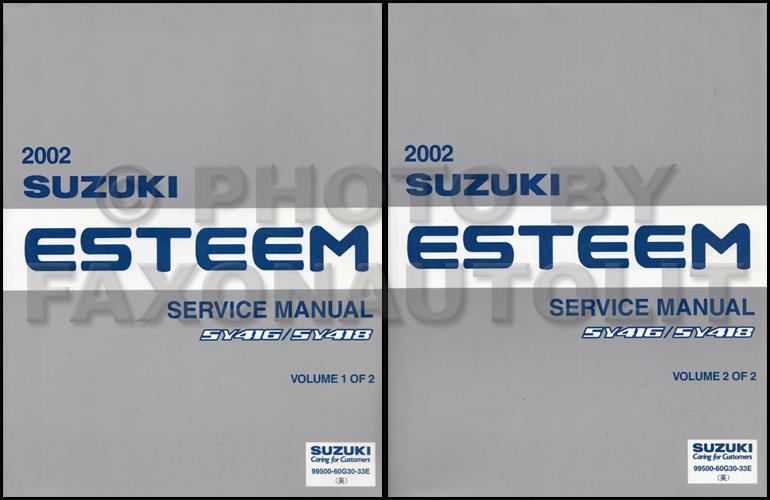 2002 suzuki esteem repair shop manual set original rh faxonautoliterature com 1998 Suzuki Esteem Part Diagram 2000 suzuki esteem repair manual free
