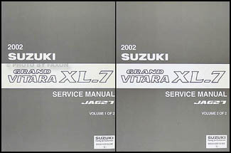 2002 suzuki grand vitara xl 7 repair shop manual set original rh faxonautoliterature com 2004 Suzuki XL7 2005 suzuki xl7 repair manual