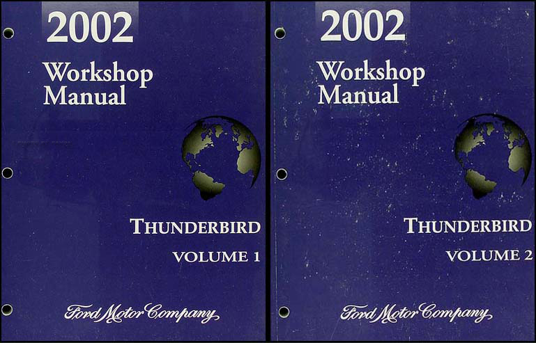2002 ford thunderbird repair shop manual 2 volume set original rh faxonautoliterature com