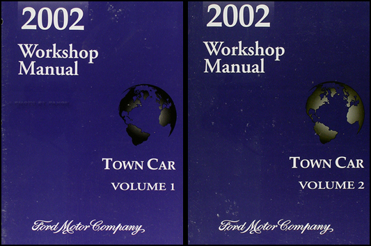 2002 Lincoln Town Car Repair Shop Manual Original 2 Volume Set