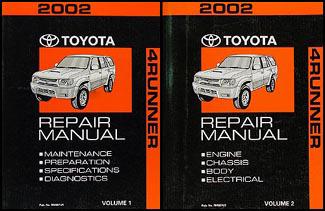 2002 toyota 4runner repair shop manual original set rh faxonautoliterature com Toyota 4Runner Owners Manual PDF 2000 Toyota 4Runner