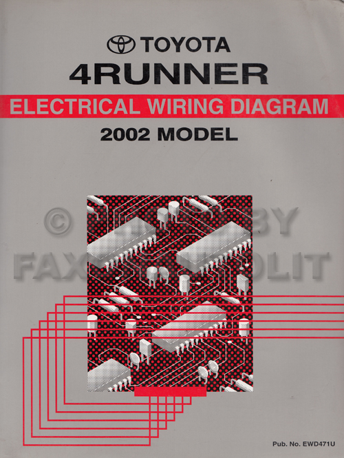 2002 toyota 4runner wiring diagram manual original rh faxonautoliterature com 2000 4Runner 2004 4Runner