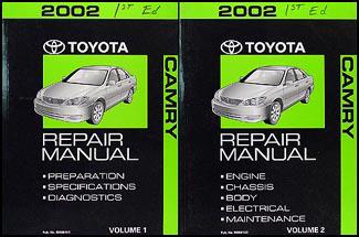 2002 toyota camry repair shop manual 2 volume set original rh faxonautoliterature com 2002 camry repair manual free download toyota camry 2002 parts manual