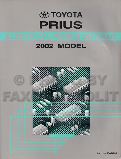 2002 toyota prius wiring diagram manual original rh faxonautoliterature com