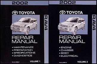 2002 Toyota RAV4    Wiring       Diagram    Manual Original
