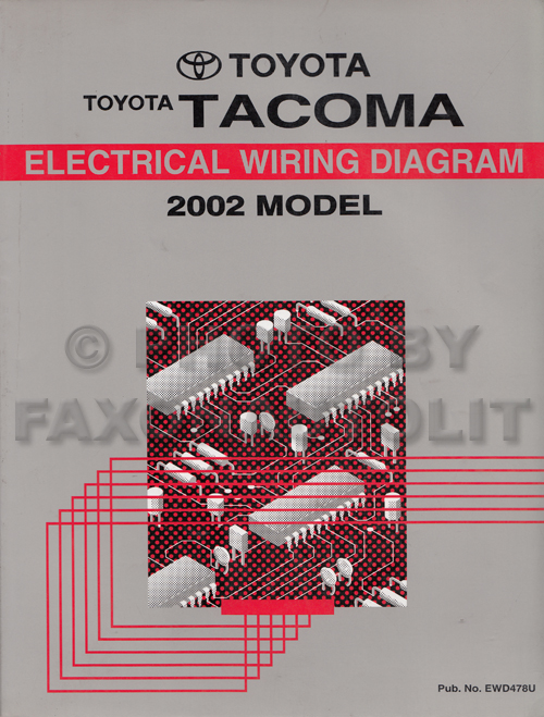 2002ToyotaTacomaEWD 2002 toyota tacoma pickup wiring diagram manual original 2001 Toyota Tacoma V6 at highcare.asia