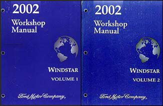 2002 ford windstar wiring diagram manual original 2002 ford windstar repair shop manual 2 volume set original