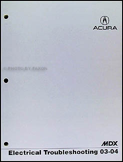 2003 Acura  on Details About 2004 Acura Mdx Electrical Troubleshootin G Manual Wiring