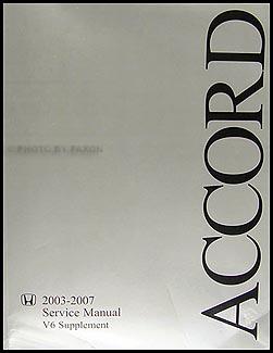 2003 2007 honda accord v6 repair shop manual supplement. Black Bedroom Furniture Sets. Home Design Ideas