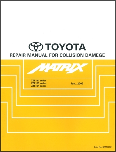 2005 Toyota Corolla Matrix Wiring Diagram Manual Original