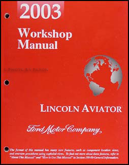 2003 lincoln aviator repair shop manual workshop service