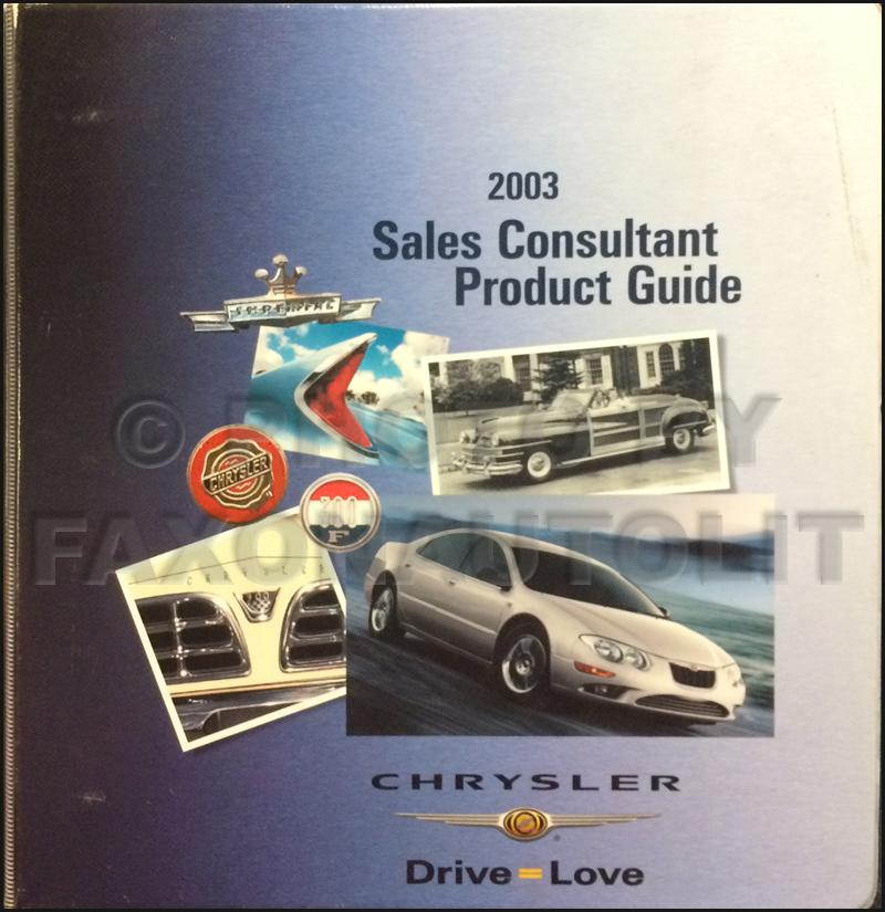 2003 Concorde, Intrepid, & 300M CD-ROM Repair Shop Manual