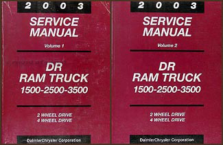 2003 dodge ram 1500 3500 truck repair shop manual original 2 volume set rh faxonautoliterature com 2004 dodge ram 1500 service manual 2003 dodge ram 1500 service manual download