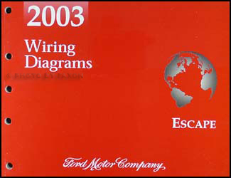 2003EscapeWD 2003 ford escape wiring diagram manual original 2003 ford escape wiring diagram at bayanpartner.co